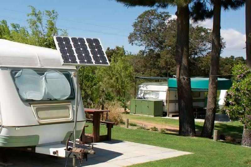 Solarpanel Camping