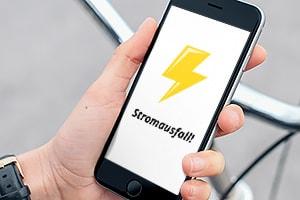 Bei einem Stromausfall werden Sie direkt benachrichtigt