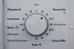 Niedrige Wasch- Temperaturen reichen völlig